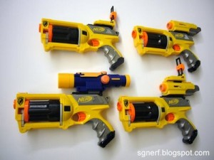 Nerf Maverick With Attachments