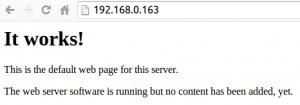 Default Apache webpage